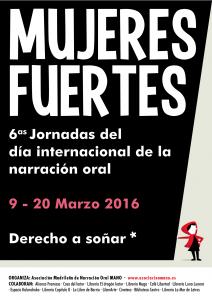 Cartel 6 Jornadas MANO Mujeres Fuertes