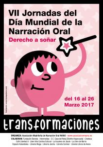 Cartel VII Jornadas MANO Día Narración Oral 2017